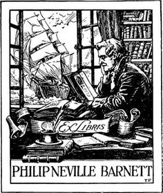 bookplates | One of the numerous bookplates of Mr. P. N. Barnett, formerly of ...