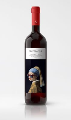 This Playful Wine Concept Features Some Famous Faces From Art History — The Dieline   Packaging & Branding Design & Innovation News
