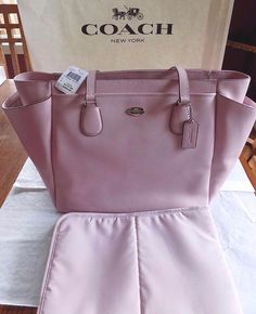 NWT AUTHENTIC COACH CROSSGRAIN LEATHER BABY DIAPER BAG TOTE PINK  F35702 $495  #Coach #TotesShoppers e-bay.com
