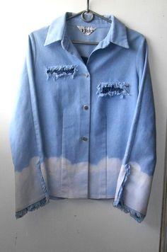 Крутейшая джинсовая рубашка оверсайз c эффектом омбре ! Gianfranco Ferre, цена - 339,00 грн, купить по доступной цене | Украина - Шафа