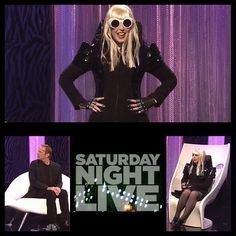 Saturday Night Live with Bruce Willis and Vanessa Bayer Skit: 'The Lady Gaga Show' #majestyblack #SNL #saturdaynightlive #BruceWillis #VanessaBayers #armorgloves #Leather #Gloves