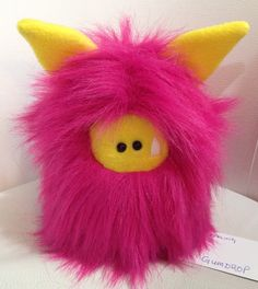 Gumdrop - a new Fuzzling  Plush hand stitched monster toy