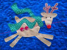 Reindeer close up | You better not pout made from a pattern … | Flickr