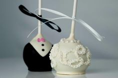 Wedding Cake Pops, easy yet gorgeous for the bride !