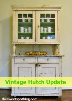 Vintage Hutch Update by The Sweet Spot Blog