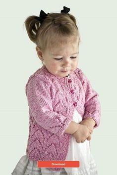 a5a56fcc7fc7b FREE Cascade Cardigan Pattern. Cardigan BebeKnitted Baby CardiganKnit ...