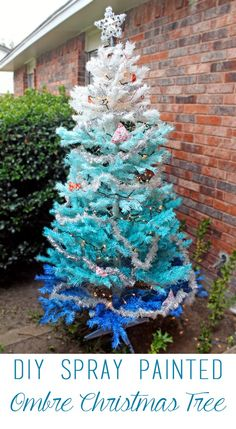 DIY Spray Painted Ombre Christmas Tree ~ tutorial