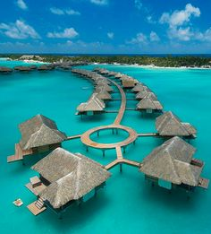 Four Seasons Resort Bora Bora -- Uhhh, pinning this for our future honeymoon...