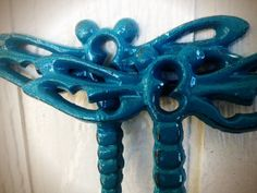 Your place to buy and sell all things handmade Teal Blue, Blue Green, Dragonfly Wall Art, Towel Hooks, Iron Wall, W 6, Dragonflies, Wall Hooks, Happy Shopping