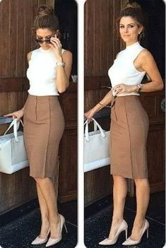 Classy Business Outfits, Casual Work Outfits, Professional Outfits, Mode Outfits, Work Attire, Work Casual, Chic Outfits, Fashion Outfits, Fashion Skirts