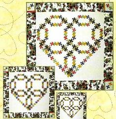 Little twister quilt designs | Wedding Ring Heart Twist Quilt Pattern by Raggedy Ruth Designs