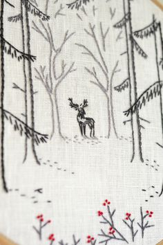 Woodland , Embroidery pattern pdf, Deer, Hand embroidery, Forest, hand embroidery patterns by #naiveneedle #embroidery #handembroidery