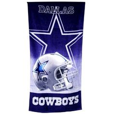 """NFL Velour Beach Towel - Dallas Cowboys 30"""" by 60"""" by NFL. $12.99. Great Looking Towel in Team Colors for the Special Cowboys Fans!!!. Save 35%!"""