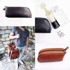 Tobacco or Dark Brown color. Leather Bags, Leather Sandals, Dopp Kit, Silver Bow, Dark Brown Color, Unique Christmas Gifts, Handmade Jewellery, Duffel Bag, Weekend Getaways