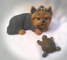 Yorkie and Spring Turtle.