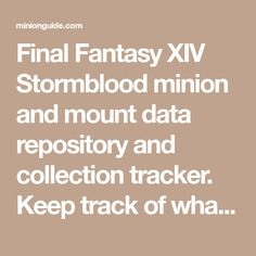 21 Best FFXIV Guides and Strats images in 2015 | Final