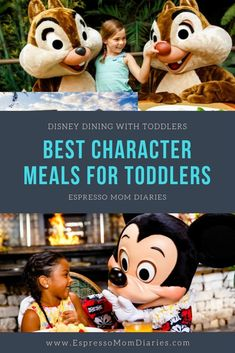 Disney restaurants with toddlers can be stressful. There are so many choices! In this 3 part series, check out our favorite Disney dining options for toddlers and their families. Part 1 focuses on the best character meals with toddlers and their families. #disney #disneydining #familytravel