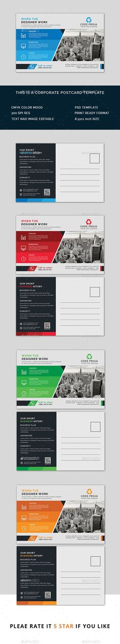 Business Postcard Business postcards, Postcard template and Template - postcard format template
