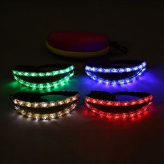 Party Supplies LED Lunettes Luminescents Lumière Blanche/ Rouge/ Vert/ Bleu