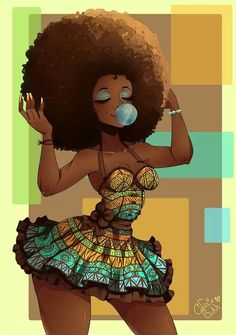 ♥ All natural, nothing artificial! Natural Hair Art, Natural Hair Styles, My Black Is Beautiful, Mixtape, Various Artists, Rapper, Cool Artwork, Amazing Artwork, Dance Music