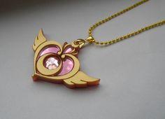 Sailor Moon Crisis Moon Compact Brooch Necklace by Miyuka on Etsy
