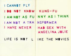 Life is not like movies