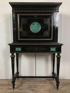 Majestueux cabinet Napoléon III / Boulle en bois noirci et marquèterie de bronze | Art, antiquités, Meubles, décoration du XIXe, Meubles de rangement | eBay!