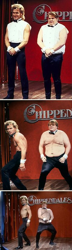 Saturday Night Live (October 27, 1990, NBC) — Patrick Swayze & Chris Farley Chippendales audition