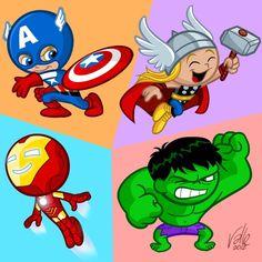 A tiny interpretation of The Avengers. Photoshop The Little Avengers Baby Avengers, Baby Marvel, Avengers Cartoon, Marvel Avengers Comics, Star Comics, The Avengers, Avenger Party, Baby Superhero, Superman Baby