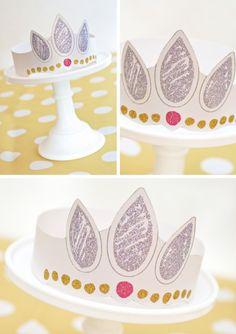 Decorate your own rapenzel crown printable. Y muchas mas ideas para fiesta