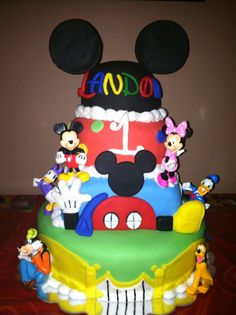 Mickey Mouse Clubhouse Cake 1st Birthday Boy Mickeymousetheme Picnic