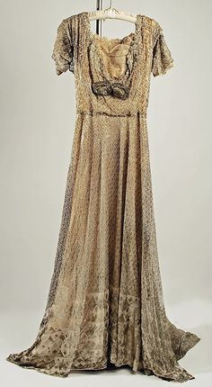 Silk and metal ball gown