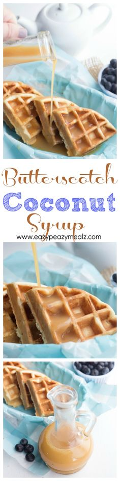Butterscotch Coconut Syrup that is rich and creamy, and can be made in just a few minutes on the stove top! You will never want any other syrup again. - Eazy Peazy Mealz