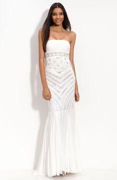 wedding dresses sue wong drop waist beaded gown fashion