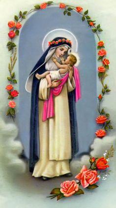 Santa Rosa de Lima Catholic Prayers, Catholic Saints, Roman Catholic, Sanya, St Rose Of Lima, Religious Ceremony, Les Religions, Faith In Love, Prayer Cards