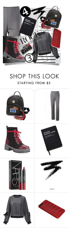 """""""One,two,three,have you seen all of thee'? 🎒"""" by jelena-bozovic-1 ❤ liked on Polyvore featuring Killstar, NARS Cosmetics, Manic Panic NYC and Design Letters"""