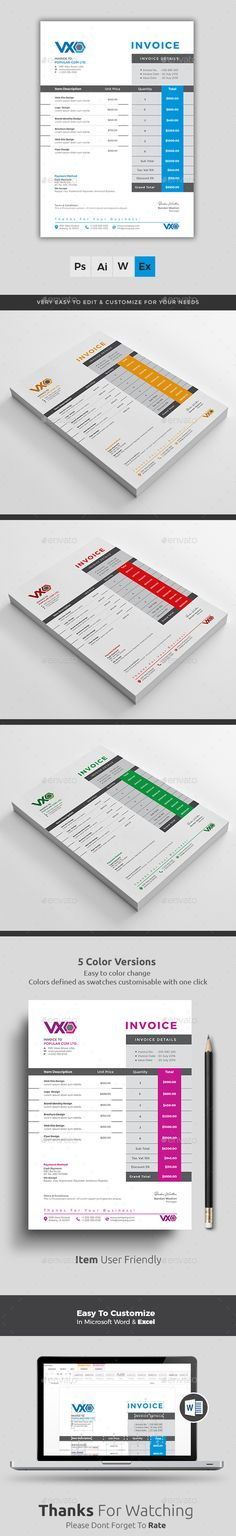 How To Make A Invoice In Excel Amazing Invoice  Template Ai Illustrator And Catalog Design