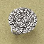 Antiqued Sterling Silver Sun Ring