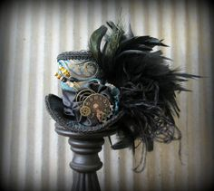Your place to buy and sell all things handmade Steampunk Couture, Steampunk Hat, Steampunk Necklace, Steampunk Clothing, Steampunk Fashion, Gothic Girls, Gothic Lolita, Victorian Gothic, Alice In Wonderland Hat