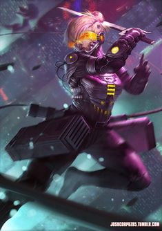 Shingeki no Kyojin - Cyberpunk Annie by JoshCorpuz85 on deviantART