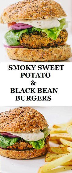 Smoly sweet potato and black bean burger - gluten free, vegan and tasty