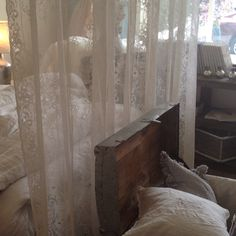 Pearl Lowe curtains at Rachel Ashwell Shabby Chic Couture in Santa Monica