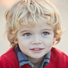 Cute toddler boy hair