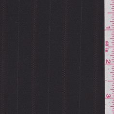 Midnight Brown Stripe Wool Suiting #24774