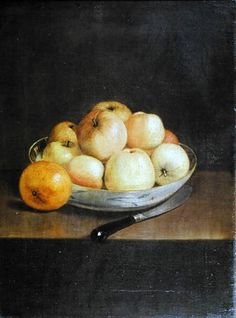 Jean-Étienne Liotard, Still Life with Apples 37 x 52 cm,oil on canvas Winterthur, Oskar Reinhart Collection