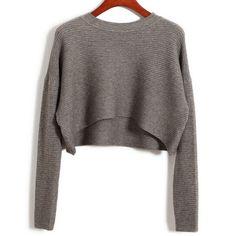 Nuevo 2016 Mujeres del Otoño Moda Sexy Cintura Alta Recortada Crop Short Suéteres Y Pullovers Coreano Otoño Jumpers Sueter Feminino