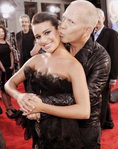 Pin for Later: Lea Michele's Life Is Full of Famous Friendships Lea got a cute smooch from Glee creator Ryan Murphy at the red carpet premiere of their concert movie in LA in August Lea Michele, Hollywood Walk Of Fame, Fox Tv Shows, Ryan Murphy, Glee Cast, She Movie, Darren Criss, Girl Humor, New Girl