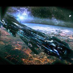 Space Ship Concept Art, Concept Ships, Robot Concept Art, Weapon Concept Art, Robot Art, Spaceship Art, Spaceship Design, Electronic Battleship, Ken Wong