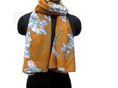 fashion scarf/ multicolored  scarf/ yellow scarf/ cotton