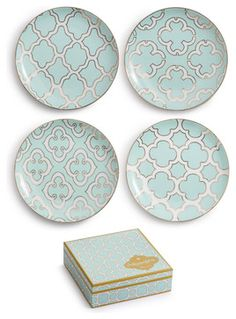Rosanna Alhambra Appetizer Plates, Set of 4 contemporary-plates